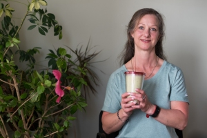 Jewel with homemade smoothie
