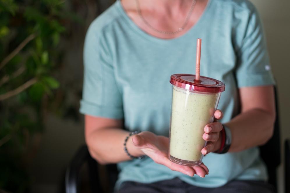 Organic avocado smoothie made by Jewel